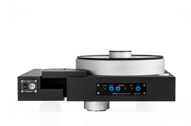 Galder TT - Black Edition Without Tonearm - The Perspective Is Angled From Back