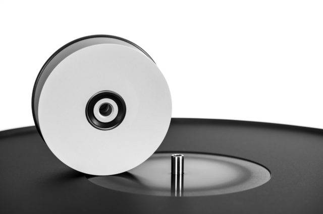 Galder TT - Black Edition Without Tonearm - The Perspective Is Angled From The Top